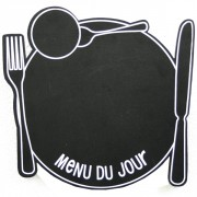 Ardoise menu murale - Dimension (cm) : 29 x 29