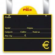 Ardoise noire affichage prix - Dimensions (cm) : 15 x 12 ou 20 x 15