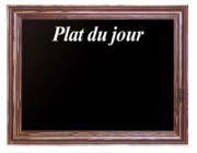 Ardoise noire plat du jour - Dimensions (L x H) cm : 40 x 30