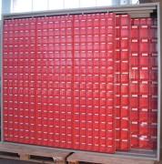 Armoire à bacs à panneaux coulissants - 4 panneaux fixes - 6 panneaux coulissants