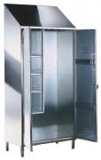 Armoire à balais inox 2 portes - Dimensions (L x P x H) mm : 950 x 500 x 2160