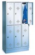 Armoire à casiers deux niveaux - Imensions utiles par case (H x L x P) : 813 x 230/330 x 465 mm