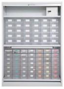 Armoire à médicaments avec rideau - Dimensions (L x l x H) cm : 725 x 628 x 198