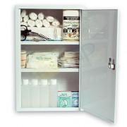 Armoire à pharmacie 1 porte en métal - Dimensions (L x l x h) : 300 x 450 x 140 mm