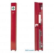 Armoire à pharmacie avec brancard - Dimensions (L x l x h) cm : 26 x 25 x 245