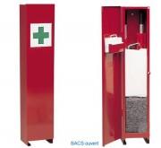 Armoire à pharmacie compacte - Dimensions (L x l x H) cm : 26 x 25 x 124