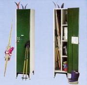 Armoire à ski - Portes 2 plis par côté soudés aux 4 angles