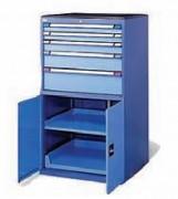 Armoire à tiroirs avec porte battante - Équipée de 4 tiroirs et deux portes battantes