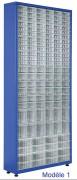 Armoire à tiroirs plastique avec plusieurs sets - Largeur : 400 – 1100mm / Hauteur : 1280 – 1870mm