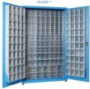 Armoire à tiroirs plastique avec portes - Largeur : 780 – 1100mm / Hauteur : 1830 – 1900mm