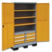 Armoire a tiroirs sur base de levage - Avec panneaux perforés