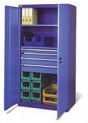 Armoire atelier métallique avec tiroirs et tablettes
