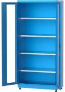 Armoire atelier portes vitrées - Dimensions (L x prof x ht) : 920 x 450 x 2000 mm