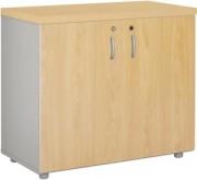 Armoire basse à portes battantes - Dimensions (L x P x H): 80 x 41 x 70 cm