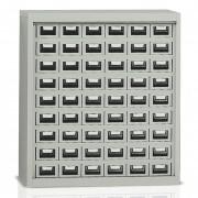 Armoire basse métal à casiers - 54 tiroirs métalliques