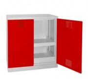 Armoire basse pour produit dangereux - Dim. : 950x500x1000 mm - Charge par niveau : 80 kg