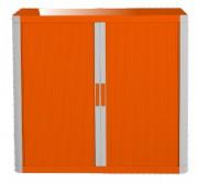 Armoire basse rangement bureau - Dimensions extérieures (L x P x H) cm : 110 x 41,5 x 104
