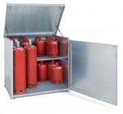 Armoire bouteille de gaz extérieur - Stockage de bouteilles de gaz – Pour 12 bouteilles de 33 kg ou 24 bouteilles de 11 kg