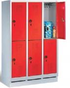 Armoire casier vestiaire maternelle H. 1350 mm - Hauteur : 1350 mm - Profondeur : 300 mm