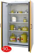 Armoire coupe-feu 90 mn pour stockage de produits inflammables - Armoire de sécurité 2 portes - Volume de stockage conseillé : 250 L