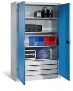 Armoire d'atelier à charge lourde - Dimensions utiles des tiroirs L 900 x P 400 mm