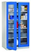 Armoire d'atelier à portes transparentes