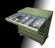 Armoire d'atelier à tiroirs - Largeur 800 x Profondeur 695 x Hauteur 1000 mm