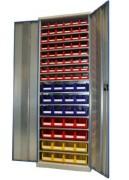 Armoire d'atelier pour bacs - Dimension HxLxP (mm) : 1950x700x250