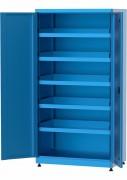 Armoire d'atelier tablettes bordées - Capacité de charge de 150 kg chacune et réglable au pas de 25 mm