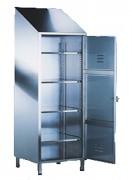 Armoire d'entretien en inox - Dimensions (L x P x H) mm : 500 x 500 x 2160