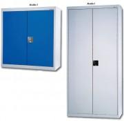 Armoire de bureau 2 et 4 tablettes - Avec 2 ou 4 tablettes - Dimensions (L x P x H) mm : 900 x 420 x 900