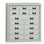 Armoire de bureau multicases en métal - 5 tiroirs métalliques