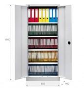 Armoire de rangement 2 portes battantes - Dimensions (HxlxP) : 1800 x 800 x 400 mm