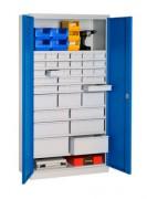 Armoire de rangement industrielle à portes pleines - Dim.(LxPxH): 1000x500x1950 mm