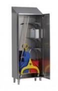 Armoire de rangement inox - Portes doublées - Profondeur : 480 mm