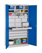 Armoire de rangement pour atelier polyvalente - Dim.(LxPxH) : 1000x500x1950 mm