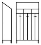 Armoire de rangement vestiaire 3 places - En acier inox - Dimensions (L x P x H) : 910 x 400 x 2000 mm