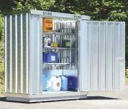 Armoire de rétention pour stockage fûts - Capacité de rétention : 264 ou 370 Litres