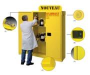 Armoire de sécurité à fermeture automatique - Capacité : de 45 à 228 Litres