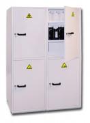 Armoire de sécurité compartimentée - Fabriquée en acier - Capacité : 4 x 55 litres - Rétention : 4 x 35 litres