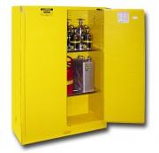 Armoire de sécurité en acier monobloc - Fabriquée en acier - 2 étagères