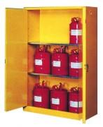 Armoire de sécurité liquide inflammable - Dimensions (L x l x H) :   86 x 86 x 165 cm - rayons réglables