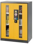 Armoire de sécurité parois simple - Portes vitrées - Capacité : 465 litres
