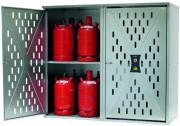 Armoire de sécurité perforée pour bouteilles de gaz - Capacité de stockage (bouteilles de gaz en kg) de 4 x 33 kg, 10 x 11 kg ou 18 x 5 kg