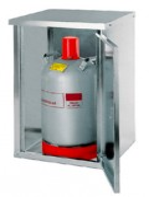 Armoire de sécurité pour bouteilles de gaz L 84 cm - Stockage de bouteilles de gaz propane -1 x 11 kg - 2 x 11 kg - 2 x 33 kg