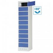 Armoire de sécurité pour ordinateurs - 10 casiers - Dimensions extérieures HxLxP: 1800 x 400 x 500 mm