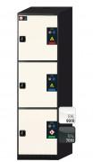 Armoire de sécurité pour produits chimiques L105 cm - Dimensions extérieures : 1055 x 520 x 1950 mm