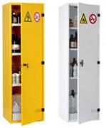 Armoire de sécurité produit toxique - Dimensions  extérieures (H x l x P) : 1950 x 580 x 500 mm