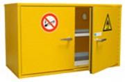 Armoire de sécurité produits toxiques - Dimensions extérieures (HxlxP) : 650 x 550-1100 x 520 mm