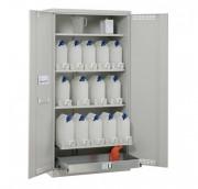 Armoire de stockage à lubrifiants - Dimensions : 100 x 55 x 195 cm